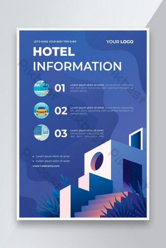 dépliant d'informations sur les hôtels plats Modèle EPS