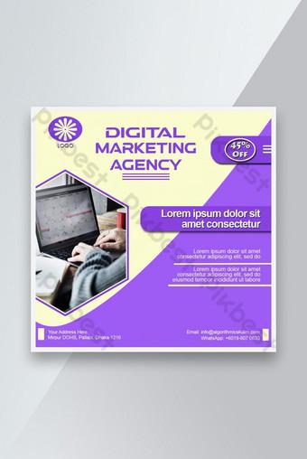 banner publicitario en redes sociales agencia de marketing digital descuento de marketing Modelo PSD