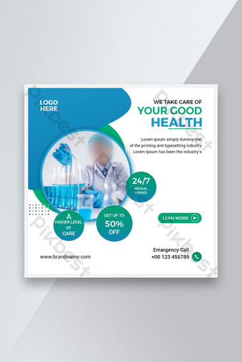 Corporate Social media post for good health service Template PSD