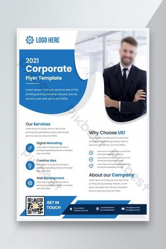 Compagnie d'entreprise Business Flyer Design Modèle de dépliant des agences de marketing Modèle EPS