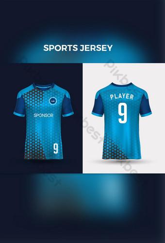 Futebol Jersey Template Esporte T Camiseta Estilo Design Futebol Kit uniforme Modelo EPS