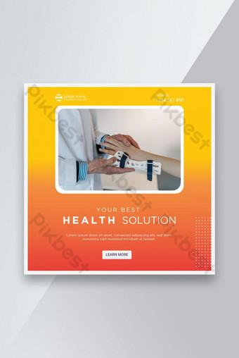 Trending social media post banner design for Health services Template AI