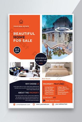 Modèle de conception simple Flyer immobilier Modèle EPS