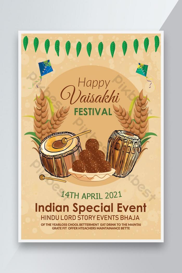 indian spécial vaisakhi affiche des expositions