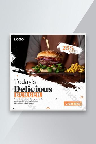 Restaurant or food banner template Design for social media post Template PSD