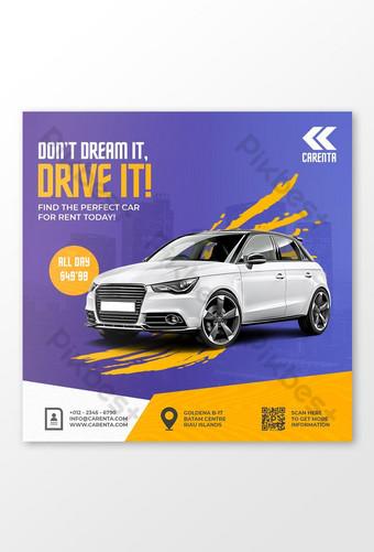 Car sale promotion social media instagram post banner template psd Template PSD