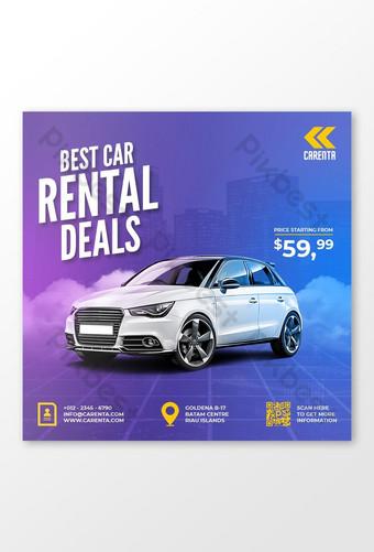 Car rental promotion social media instagram post banner template psd Template PSD
