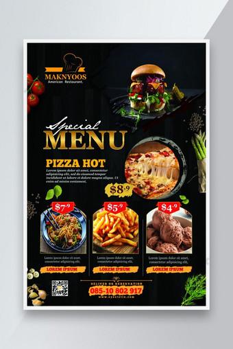 جديد مطعم الغذاء القائمة نشرة قالب PSD