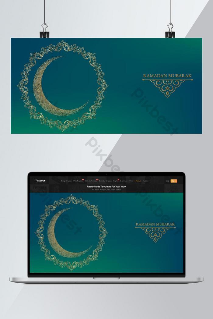 modelli di progettazione di sfondo islamico ramadan mubarak