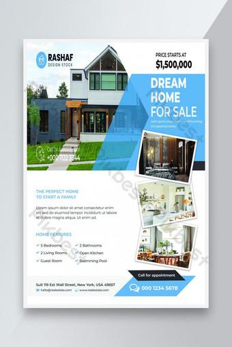 Nouvelle maison de rêve à vendre modèle Flyer Modèle PSD