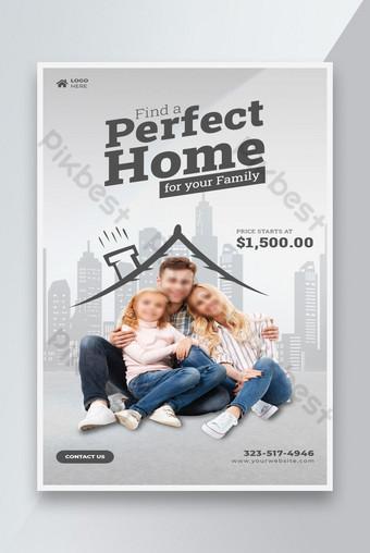 Immobilier Maison à vendre Modèle Flyer Modèle PSD