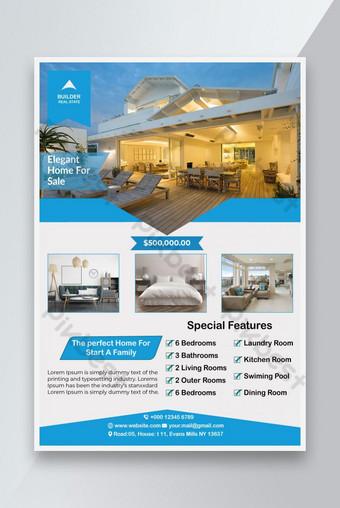 immobilier Accueil Vente Flyer Design EPS Modèle EPS