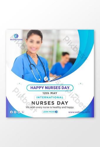 Selamat Hari Perawat Internasional Media Sosial Post Banner Template Desain Templat AI