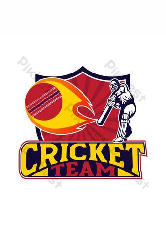 Gricket Team Logo Creative Cricket Icon Logo Vector Elementos graficos Modelo AI