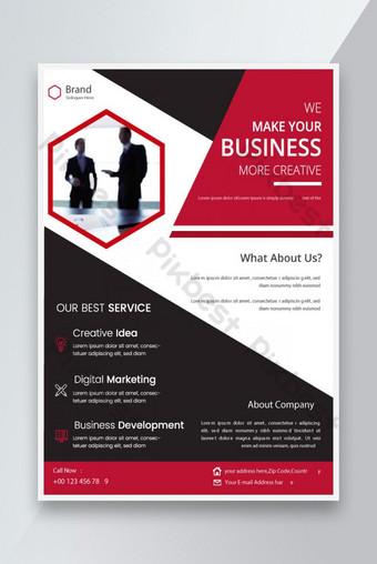 Dark Red Corporate Business Flyer Modèle Design Modèle EPS