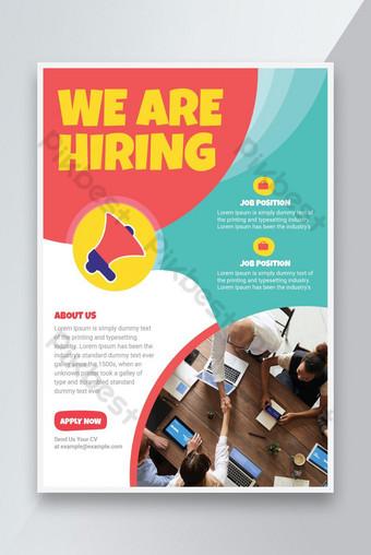 Embaucher une affiche de dépliant Job Nous embauchons un modèle de dépliant de la publicité Modèle AI