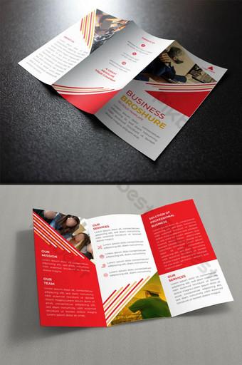 كتيب الأعمال قالب تصميم التصميم الجرافيكي أحمر قالب EPS