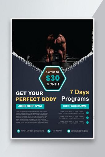 Creative Gym and Fitness Poster Amp Flyer Design pour modèle de sport publicitaire rouge Modèle EPS