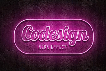 Logo Mockup 3D Texto Efecto de neón rojo Elementos graficos Modelo PSD