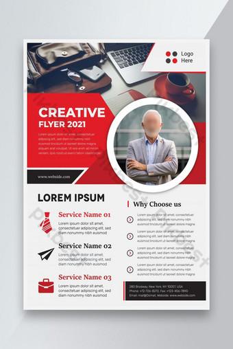 Flyer d'entreprise design rouge Modèle AI