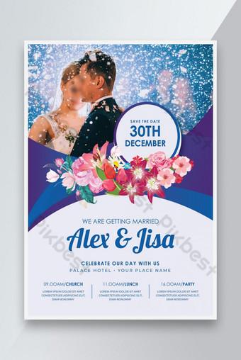 Invitación de boda Flyer Floral Wedding DISEÑO Modelo AI
