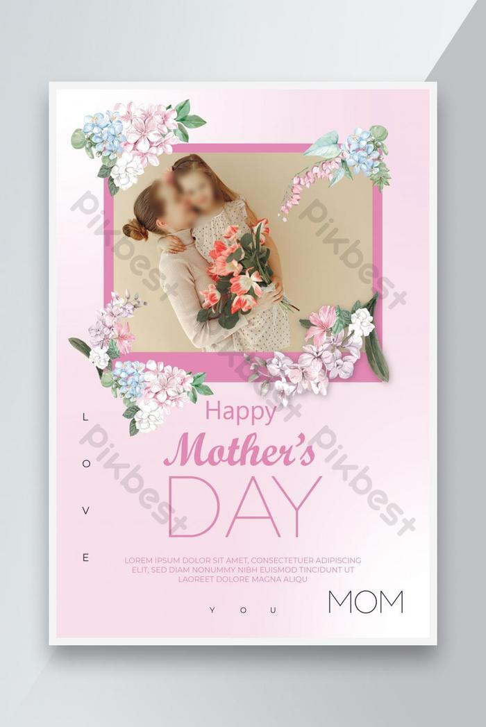 mother's day pink color flyer