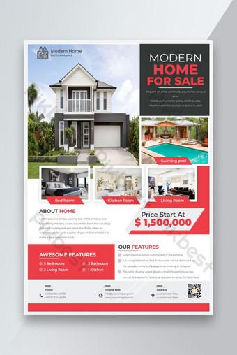 Nouvelle maison moderne à vendre modèle Flyer Modèle AI