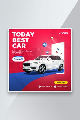 Rent car social media post banner premium Template PSD