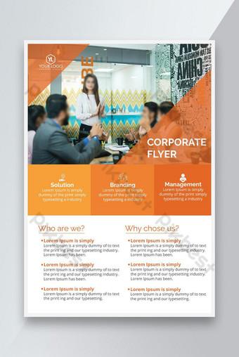 Diseño de folleto corporativo A4 Tamaño PSD plantillas PSD Modelo PSD
