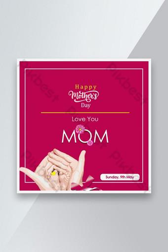 Feliz Día de la Madre S Post Design Modelo PSD