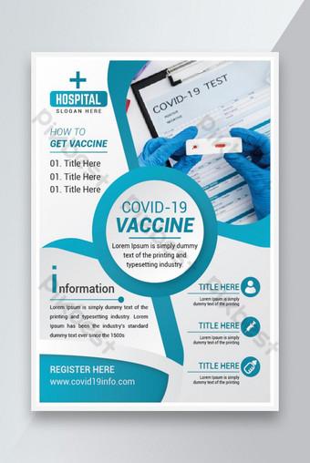Covid19 Vaccine Social Poster Flyer Design Modèle EPS