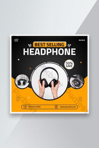 Best Selling Headphone Sale social media Instagram post templates Template PSD