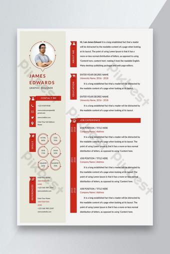 Mẫu sơ yếu lý lịch CV tối giản chuyên nghiệp Bản mẫu EPS