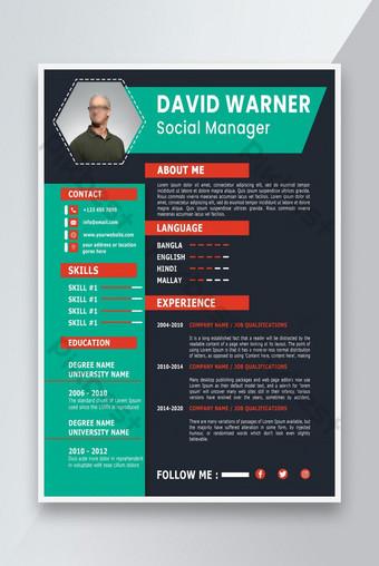 KINH DOANH KINH DOANH CV Thiết kế sơ yếu lý lịch sáng tạo và mẫu thiết kế thư Bản mẫu PSD