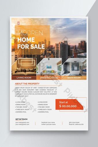 Maison moderne à vendre Flyer immobilier Modèle AI