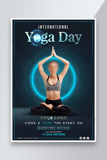 International yoga day event promotion poster deisgn Template PSD
