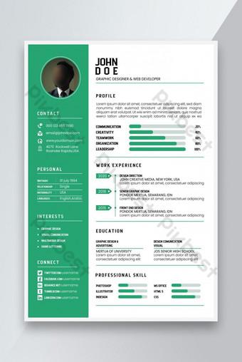 Thiết kế CV hiện đại Mẫu sơ yếu lý lịch hiện đại Bản mẫu PSD
