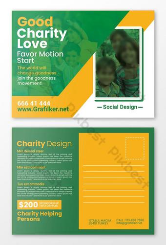 Modèles de cartes postales caritatives Modèle PSD