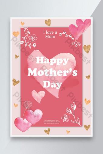 feliz día de la madre te amo cartel Modelo AI