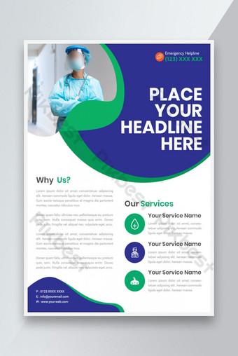 Health Medical Flyer Modèle Design Idées de conception Modèle EPS
