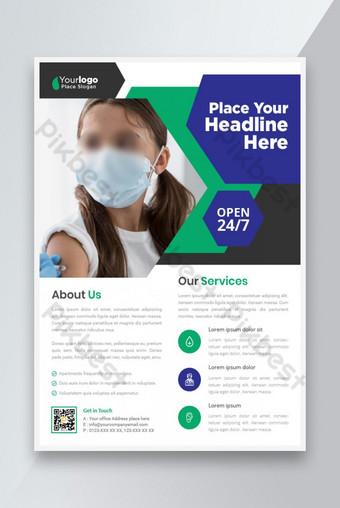 Modèle de dépliant médical des idées de flyer médical Modèle EPS
