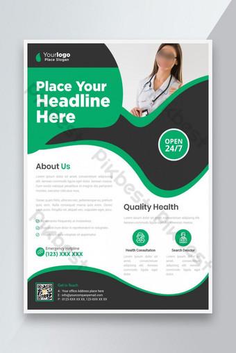 Corporate Business Flyer Affiche Pamphlet Brochure Housse de conception Fond de la conception Modèle EPS