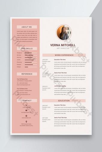 Business CV Sơ yếu lý lịch và thư xin việc Bản mẫu PSD