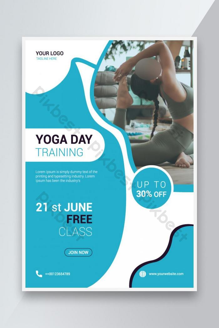 mẫu thiết kế flyer ngày yoga quốc tế