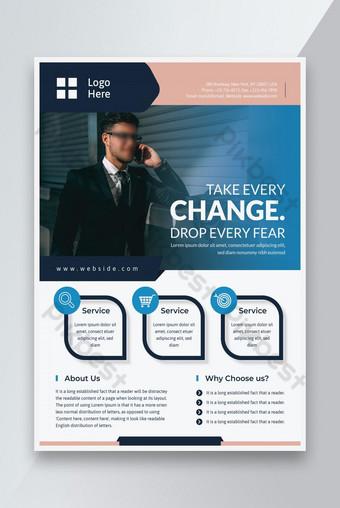 Entreprise Promotion Agence Creative Flyer Affiche design Modèle AI