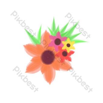 Clipartów Piękne kwiaty wektor Elementy graficzne Szablon AI