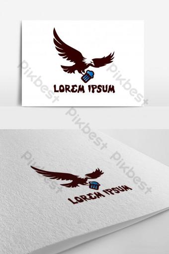 logo de águila Elementos graficos Modelo AI
