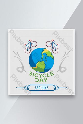 세계 자전거 날 소셜 미디어 템플릿 템플릿 AI