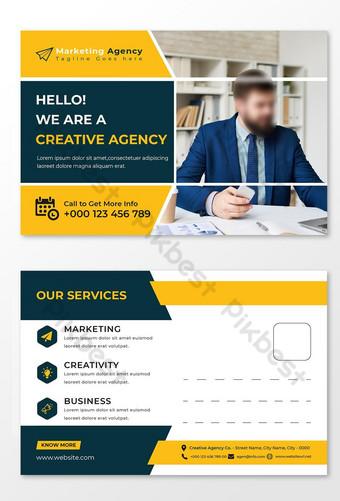 وكالة التسويق قالب بطاقة بريدية أو قالب بطاقة بريدية التسويق الرقمي قالب EPS