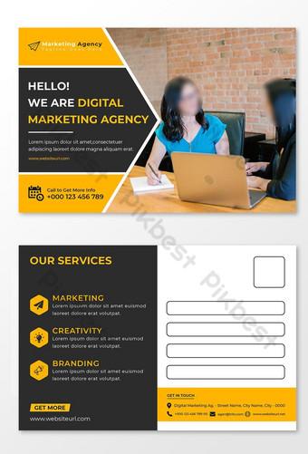 Modèle de carte postale de la conception de la carte postale ou de la marketing Modèle EPS